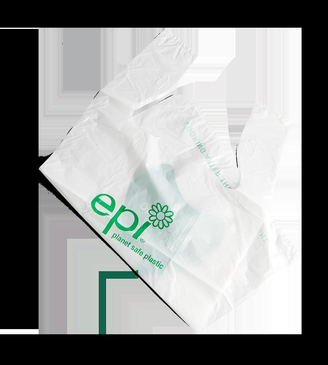 Degradable Plastic Carry Bag White Sydney Packaging